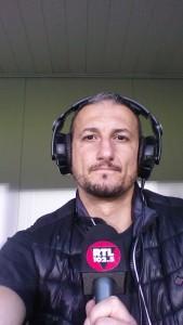 foto Luciano Cesaretti in telecronaca per rtl