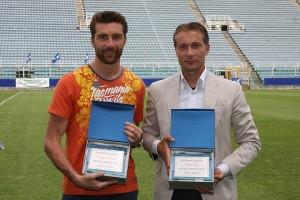 De Sanctis e Valeri premiati durante la Giornata degli Sportivi d'Elite